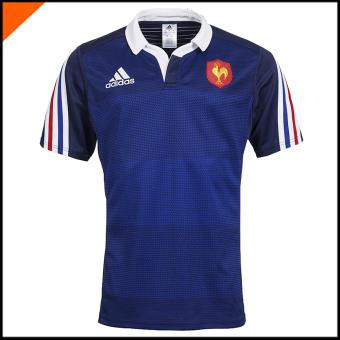 Maillot Rugby FFR Bleu Blanc F39840 Supporter de rugby