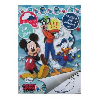 Grand Format A4 Livres De Coloriage Avec Autocollants Disney Cars,