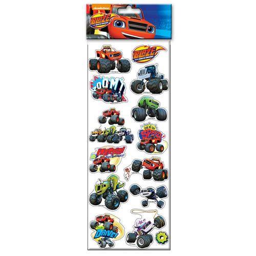 Planche de stickers blaze et les monster machine autocollant disney enfant voiture