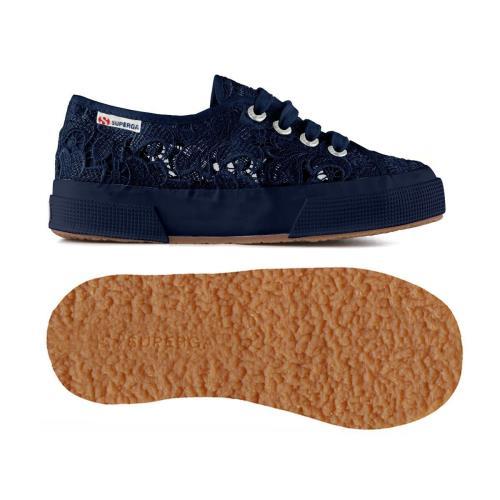 Superga <strong>chaussures</strong> 2750 macramej pour enfant style classique couleur unie