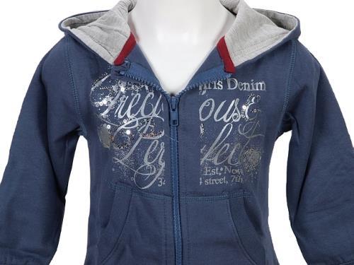 <strong>Vestes</strong> sweats zippés capuche teidem carla bleu taille 3 ans bébé femme