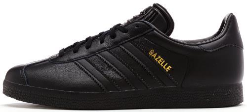 Adidas Originals Gazelle cuir Formateurs en Core Noir BB5497