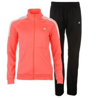 cute cheap price free shipping Jogging Noir et Rouge Femme Adidas 3 Bandes - Survêtements ...
