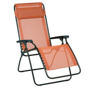 lafuma fauteuil relax pliant potiron lfm4007 7226 mobilier de jardin achat prix fnac - Fauteuil Pliant Relax