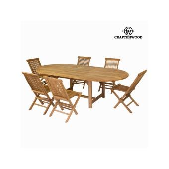 Table à rallonge avec 6 chaises by Craftenwood
