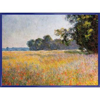 Poster Reproduction Encadré: Claude Monet - Champ D\'Avoine Aux ...