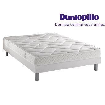 ensemble dunlopillo matelas double aeronature grand confort sommier double pieds achat. Black Bedroom Furniture Sets. Home Design Ideas