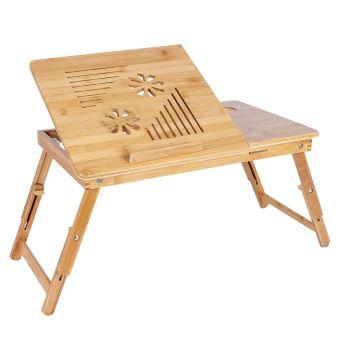 Pc Pour Table Pliable Lit Refroidisseur Ordinateur De Bambou Avec En f76yvYbg