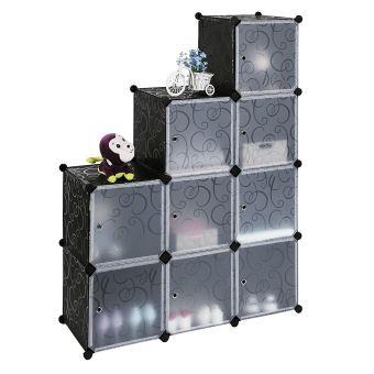 Rangement Cube Modulable cubes/étagère de rangement modulables plastiques cadre en métal