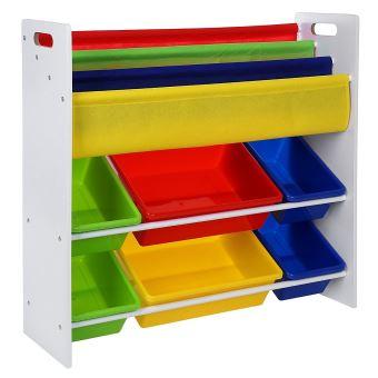 meuble de rangement pour jouets et livres chambre d enfant achat prix fnac. Black Bedroom Furniture Sets. Home Design Ideas