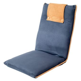 Chaise De Meditation Sol Rembourree Avec Dossier Reglablebleu