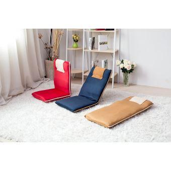 Chaise de méditation de sol rembourrée avec dossier réglable