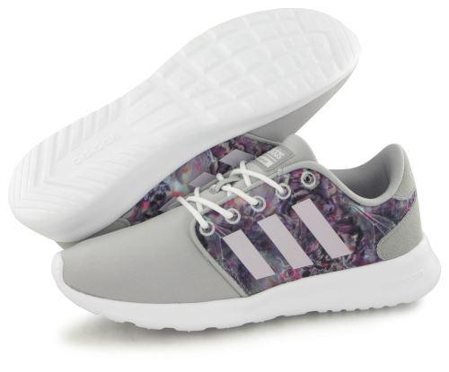 Adidas Neo Cloudfoam Qt Racer gris, baskets mode femme