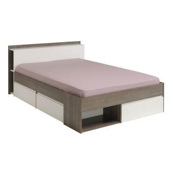 lit adulte 160 x 200 cm avec 3 tiroirs 160x200 cm pegane achat prix fnac - Lit Adulte 160x200