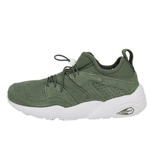 Puma BLAZE OF GLORY SOFT Chaussures Mode Sneakers Homme Cuir Suede Kaki Trinomic