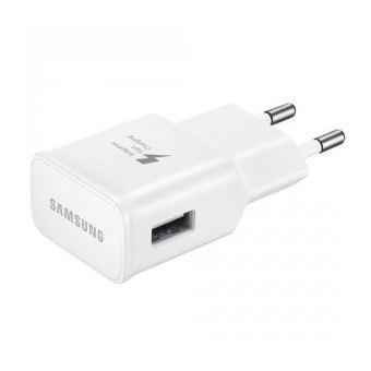 Chargeur secteur rapide USB-C 2A Samsung + Câble USB Blanc