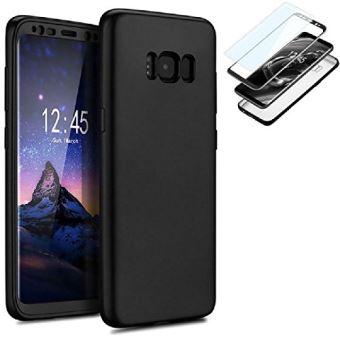 Coque intégrale 360° noire avant et arrière avec Film de protection pour Samsung  Galaxy S8 - Etui pour téléphone mobile - Achat   prix   fnac 6dfcfb2673ae