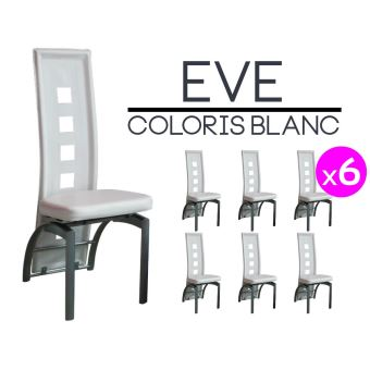 Eve Lot 6 Chaises Blanches Achat Prix Fnac