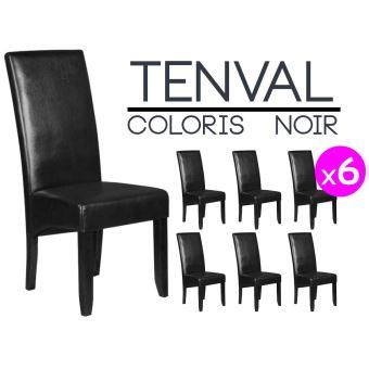 Tenval Lot de 6 Chaises Noires Achat & prix | fnac
