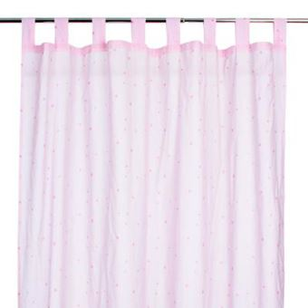Rideau rose étoilé pour chambre enfant, L.260 x l.140 cm -PEGANE ...