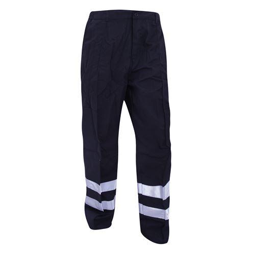 Yoko - Pantalon de travail haute visibilité, coupe régulière - Homme (Lot de 2) (46 FR) (Bleu marine) - UTBC4407
