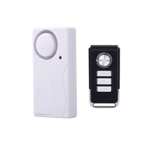 Alarme de Porte Sans Fil Anti-Vol Télécommande Portes Et Fenêtres Alarmes de Sécurité Wenxibe112