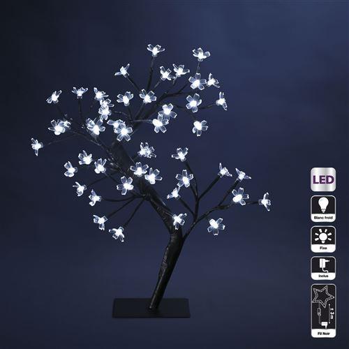 Arbre lumineux décoratif Prunus - 48 LED - Lumière blanche