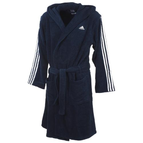 Peignoir de bain Adidas Bleu marine bleu nuit Taille S