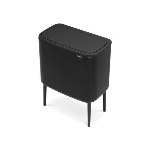 Brabantia - 316067 - Poubelle BO Touch Bin, 3 x 11 litres, Noir Mat