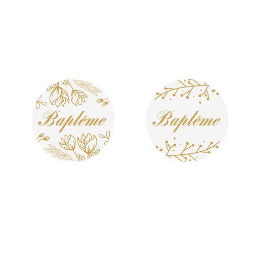 24 confettis dorés baptême 2.8cm