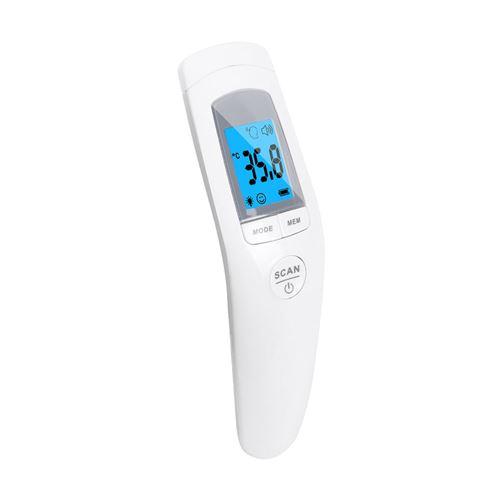 Thermomètre frontal numérique infrarouge IR pour bébé adulte sans contact - blanc