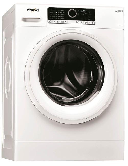 Whirlpool Supreme Care FSCR80499 - Machine à laver - indépendant - largeur : 59.5 cm - profondeur : 61 cm - hauteur : 85 cm - chargement frontal - 55 litres - 8 kg - 1400 tours/min
