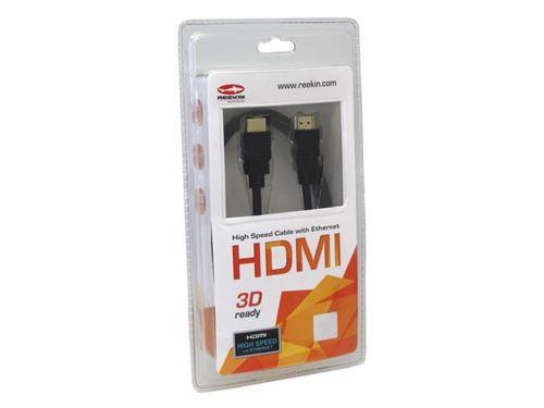 Câble hdmi reekin 3d full hd 5,0 metre (high speed avec ethernet) hdmi-001-5m