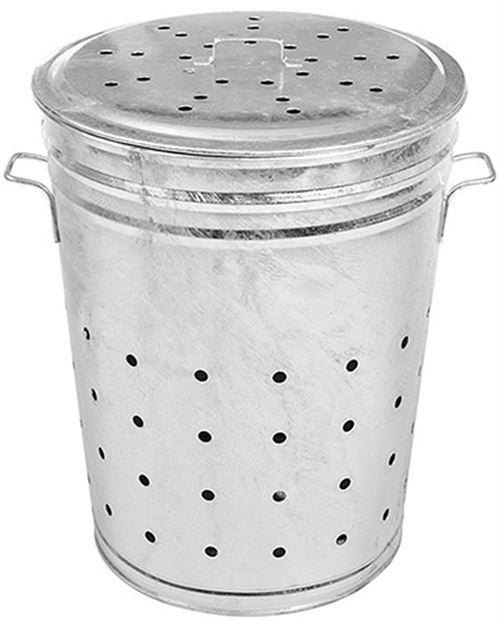 Guillouard - Bac multi-usages acier galvanisé 100 litres (grille-herbe, composteur...)