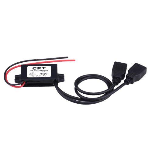 KIMISS 3A DC 12 V à DC 5 V Double USB Chargeur Adaptateur Convertisseur Module pour Voiture Moto Tél
