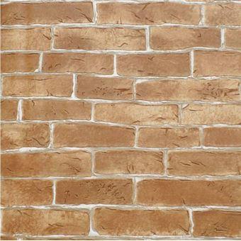 Papier Peint Vinyle Rustique Motif Texture Brique Murale Beige 5 3m2