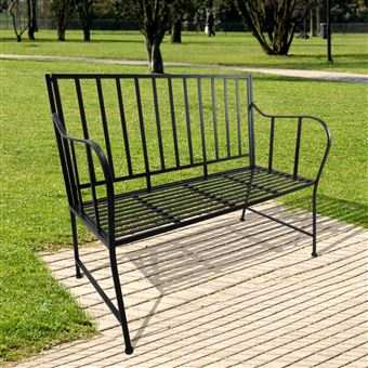 55€90 sur Banc de jardin design contemporain 3 places dim. 117L x ...