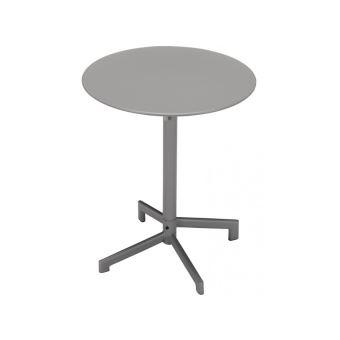 Petite table de jardin pliable LUXEMBOURG en métal - D.60cm ...