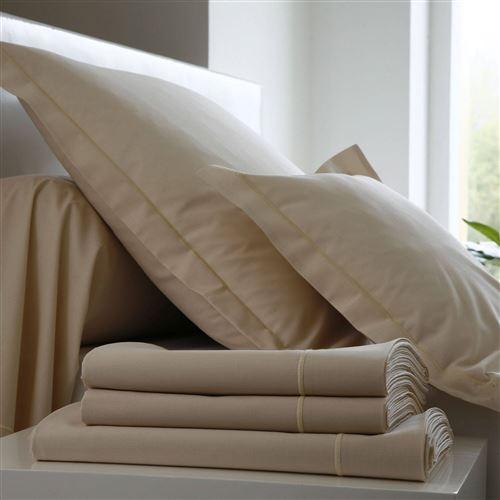 Drap housse Coton BLANC DES VOSGES - Ivoire - 90 x 190 cm