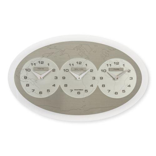 Horloge murale Tre Ore nel Mondo (Tokyo - New York - Paris) Incantesimo Design