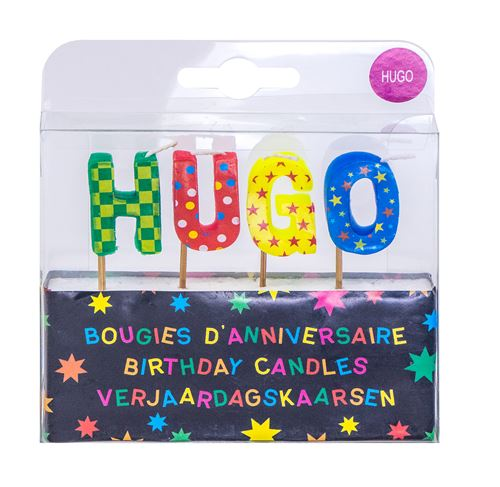 Bougies d'anniversaire prénom Hugo