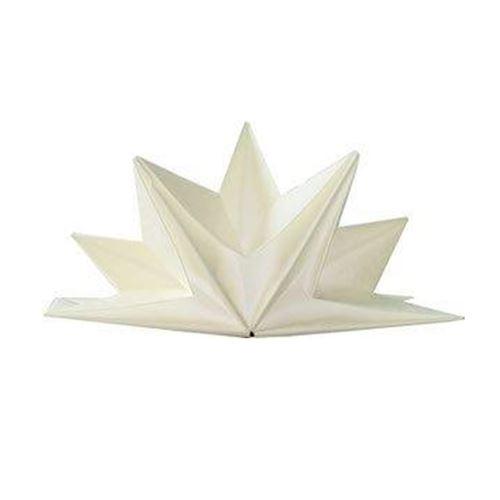 12 serviettes papier pré-pliées 40x60cm blanc