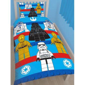 Housse de couette + taie d'oreiller stormtrooper bleu Star