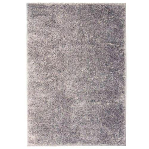 Homgeek Tapis à poils Longs pour Chambre ou Salon 80 x 150 cm Gris