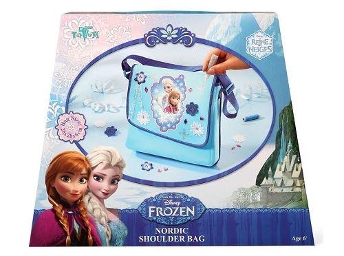 Totum disney frozen la reine des neiges - personnalise ton sac bandoulière avec elsa et anna et bien sur olaf