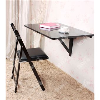 sobuy table murale rabattable en bois 2 plateaux plateau. Black Bedroom Furniture Sets. Home Design Ideas