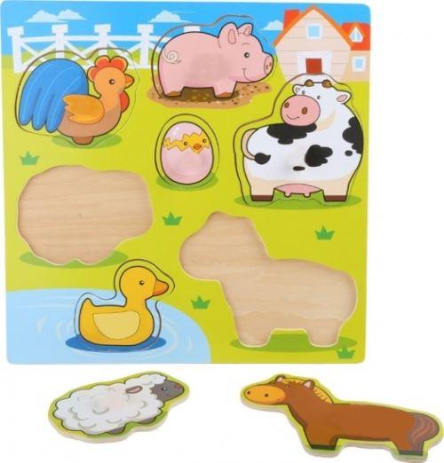 Small Foot PUZZLE EN BOIS animaux mignons 7 PIECES 30X30 CM