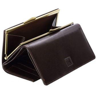 bd4c3adbd9af93 Portefeuille femme cuir véritable, grand porte monnaie , tk186 collection  magli milano couleur , marron, matière , cuir - Portefeuilles - Achat &  prix | ...