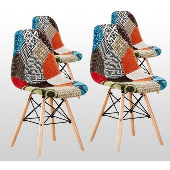 chaises style scandinave patchvork