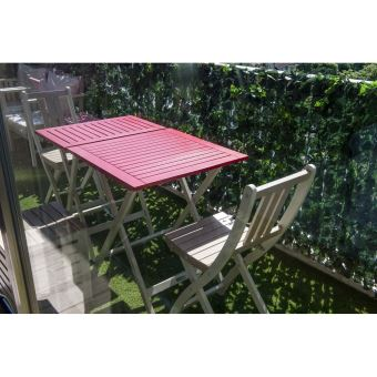 Petite table pliante rectangulaire BURANO CITY GREEN Rouge ...